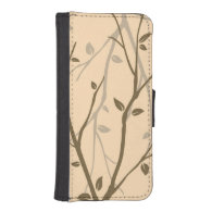 Abstract Autumn Leaves iPhone 5 Wallets