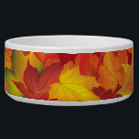 "Abstract Autumn Leaves Pattern Bowl<br><div class=""desc"">This is a beautiful Autumn/fall inspired print that makes the perfect gift.</div>"