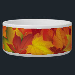 """Abstract Autumn Leaves Pattern Bowl<br><div class=""""desc"""">This is a beautiful Autumn/fall inspired print that makes the perfect gift.</div>"""