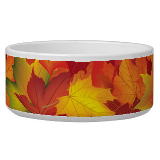Abstract Autumn Leaves Pattern Bowl