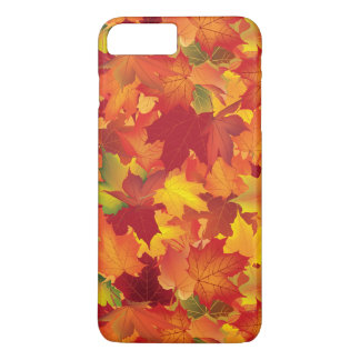 Abstract Autumn Leaves Pattern iPhone 7 Plus Case