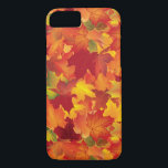 "Abstract Autumn Leaves Pattern iPhone 8/7 Case<br><div class=""desc"">This is a beautiful Autumn/fall inspired print that makes the perfect gift.</div>"