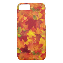 Abstract Autumn Leaves Pattern iPhone 8/7 Case