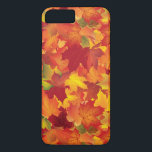 """Abstract Autumn Leaves Pattern iPhone 8 Plus/7 Plus Case<br><div class=""""desc"""">This is a beautiful Autumn/fall inspired print that makes the perfect gift.</div>"""
