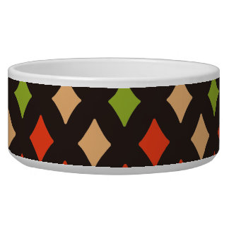 Abstract Autumn Patterns Bowl