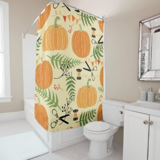 Abstract Autumn Patterns Shower Curtain