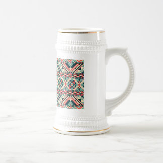Abstract Aztec Pattern Beer Stein