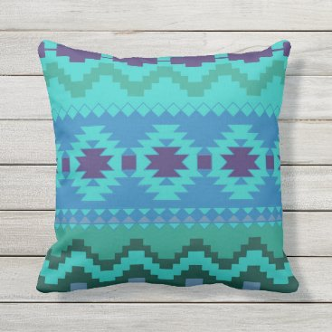 Abstract Aztec Pattern Throw Pillow