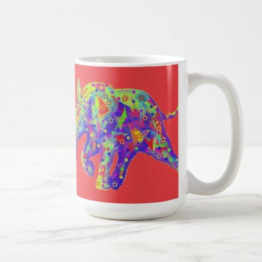 abstract baby elephant mug