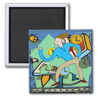 Abstract Back To School Magnet