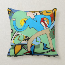 Abstract Back To School Throw Pillow