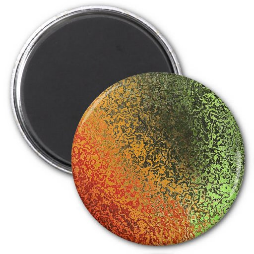 Abstract Background 2 Inch Round Magnet