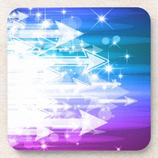 Abstract Background Arrows Vector Art Beverage Coaster