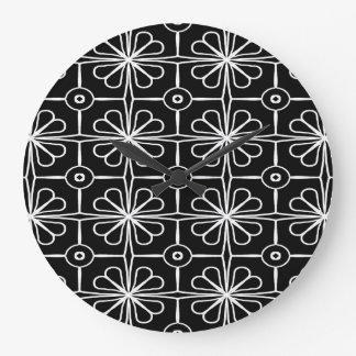 Abstract Background Black And White Seamless Large Clock