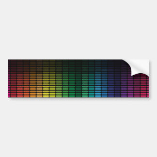 Abstract Background Car Bumper Sticker