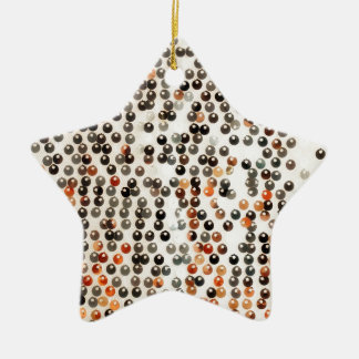 Abstract background ceramic ornament
