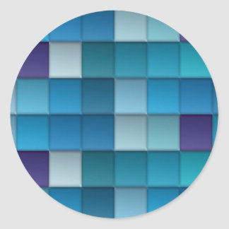 Abstract Background Classic Round Sticker