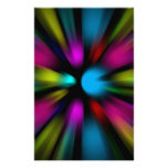 Abstract Background Custom Stationery