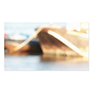 Abstract Background - De-focused Boats. Business Card