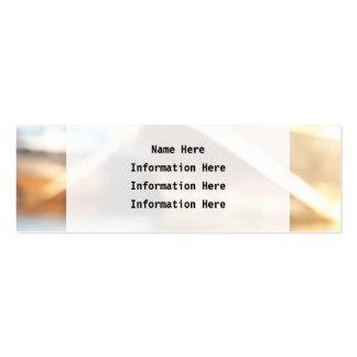 Abstract Background - De-focused Boats. Mini Business Card