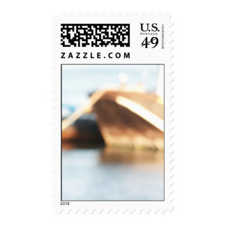 Abstract Background - De-focused Boats. Postage Stamp