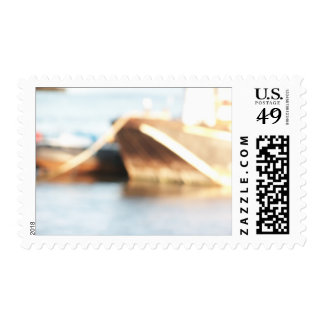 Abstract Background - De-focused Boats. Stamp