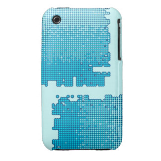 Abstract background in blue, iPhone 3 case