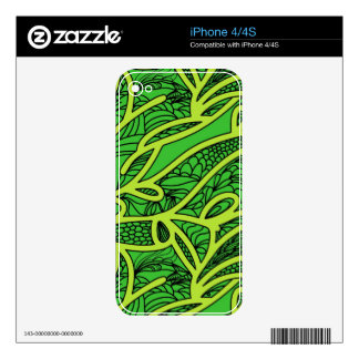 Abstract Background iPhone 4S Skin