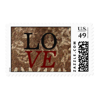 Abstract Background Love Wedding Stamp
