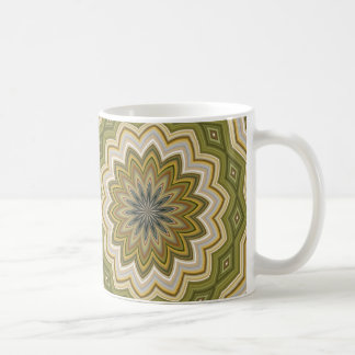 Abstract Background Moss Green Coffee Mug