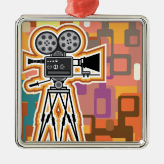 Abstract Background Movie Projector Film camera Metal Ornament