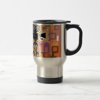 Abstract Background Movie Projector Film camera Travel Mug