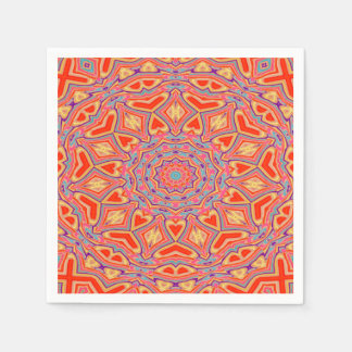 Abstract Background Multi Color Mosaic Pattern Napkin