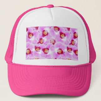 Abstract Background of an Orchid Blossom Photograp Trucker Hat