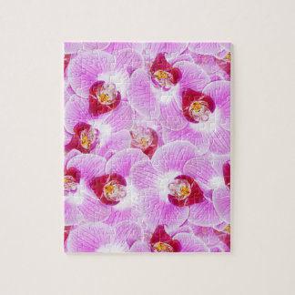 Abstract Background of an Orchid Flower Photograph Puzzle