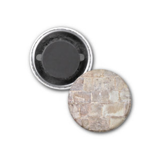 Abstract Background Of Dry Stone Wall 1 Inch Round Magnet