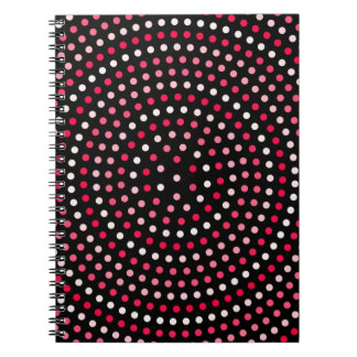 Abstract Background Pattern Shapes Spiral Notebook