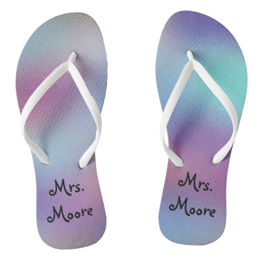 c24d2efa6bca3 Abstract Background Personalized Mrs Wedding Flip Flops