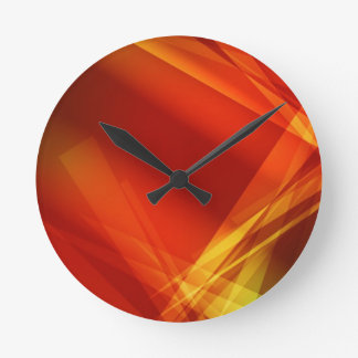 Abstract-Background RED YELLOW GREEN DIGITAL RANDO Round Clock