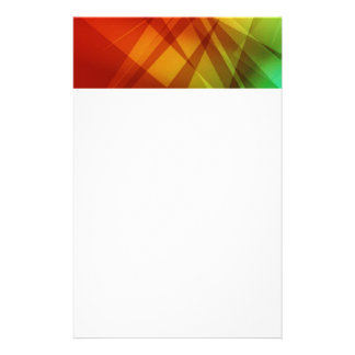 Abstract-Background RED YELLOW GREEN DIGITAL RANDO Personalized Stationery