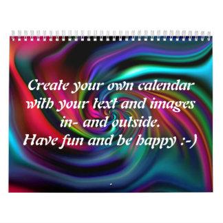 Abstract Background Spirals soft I + your text Calendar