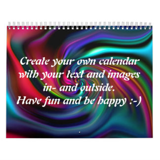 Abstract Background Spirals soft I + your text Calendar