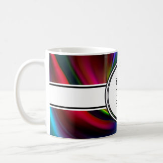 Abstract Background Spirals soft I + your text Coffee Mug