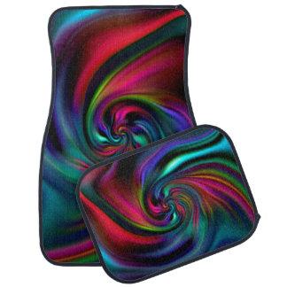 Abstract Background Spirals soft I Floor Mat