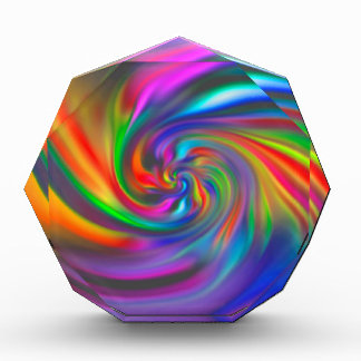 Abstract Background Spirals Soft II Acrylic Award