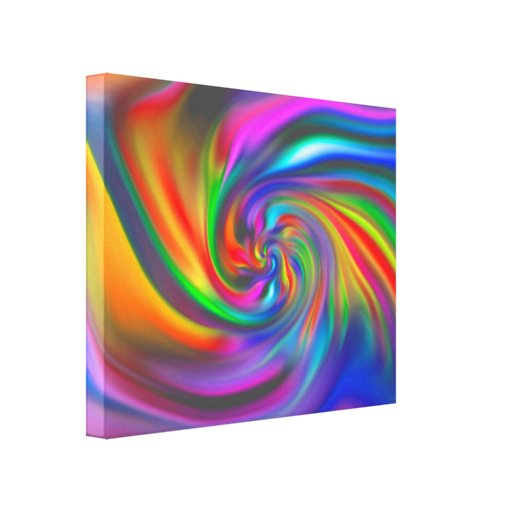 Abstract Background Spirals Soft II Gallery Wrapped Canvas