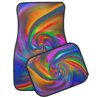 Abstract Background Spirals soft II Car Floor Mat