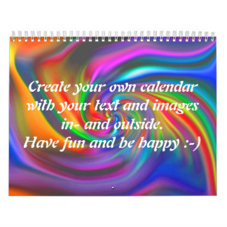 Abstract Background Spirals soft II + your text Calendar