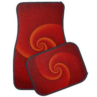 Abstract Background Spirals soft III Car Mat