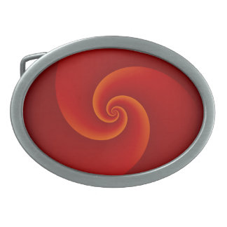 Abstract Background Spirals soft III Oval Belt Buckle